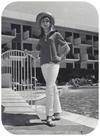 Jodi Stewart wearing a hat