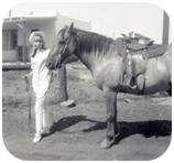 Jodi Stewart and a horse