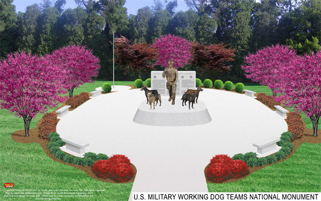 Military Dogs Monument