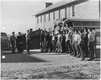 First 29 Navajo Code Talker Recruits being sworn in at Fort Wingate, NM