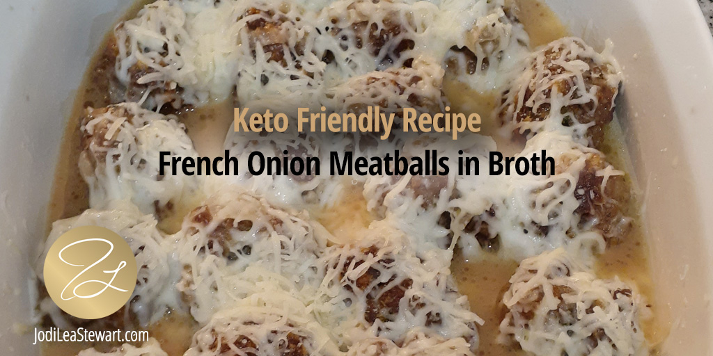 French Onion Meatballs in Broth